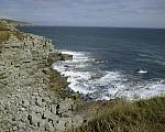 Dorset Coast - Little cove at Winspit abandoned stone quarry